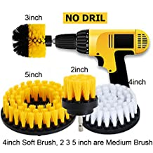 HIFROM 2inch 3inch 4inch 5inch Drill Brush - Soft Medium Power Drill Attachment Scrub Cleaning Kit for Bathroom Showers Tile Grout Glass Carpets Upholstery