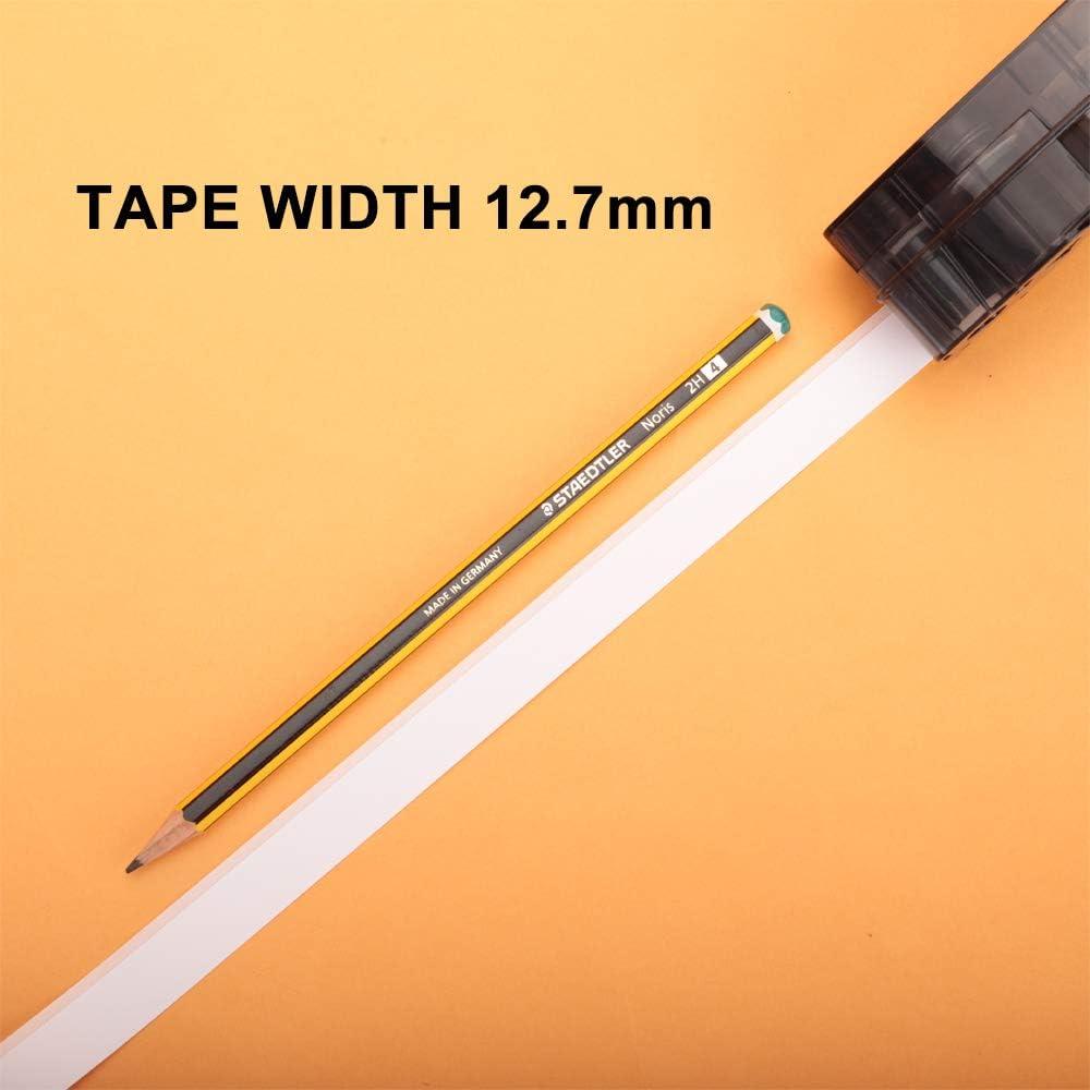 IDPAL e LABPAL per BMP21-PLUS lunghezza 6,4 m Nero su Bianco Nastro per Etichette Aken compatibile in sostituzione di Brady Nylon M21-500-499 Etichette larghezza 12,7 mm 1 pezzi