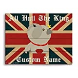 All Hail The King English Bulldog with Union Jack Flag Graphic Customizable Wall Art Print