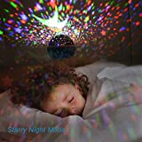 Night Lights for Kids, SUNNEST Baby Night Light 360 Degree Rotating Star Projector with USB Cable, 8 Light Color Changing Night Light Projector for Bedroom Nursery Decor, Christmas Gift
