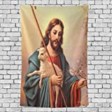 Donnapink Wall Tapestry Christian Jesus Christ 40''X60'' Wall Hanging Bedspread For Home Livingroom Dorm