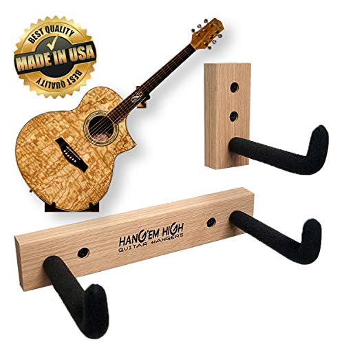 Angled Guitar Wall Hanger Display for Acoustic and Thick Body Guitars -Bare (no finish)