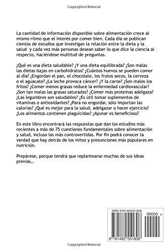 Lo que dice la ciencia sobre dietas, alimentación y salud (Spanish Edition): L. Jiménez: 9781482551808: Amazon.com: Books