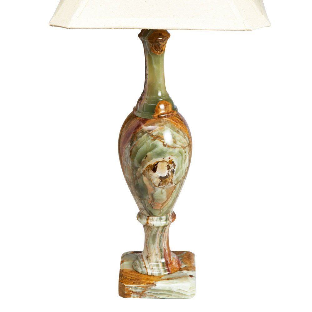 Onyx Table Lamp 18'' H 'Stones of Antiquity Lamp'
