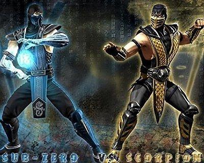 SDore Mortal Kombat Sub Zero Scorpion Edible 1/4 Sheet Image Frosting Cake Topper Birthda. - Inch 11 Topper