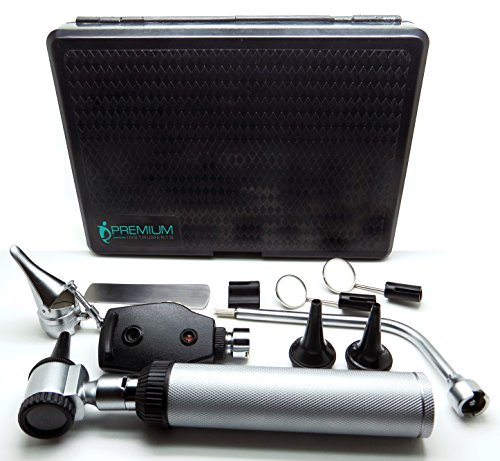 Medical Diagnostic Ent 11 Pcs Otoscope Illuminator Mirror Nasal Speculum Tongue Depressors Instruments