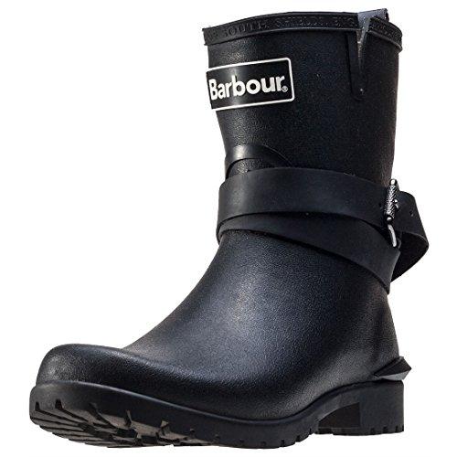 Festival Mid Black Calf Wellingtons Buckle Boots Biker Womens Barbour Rubber TFcqHc1f