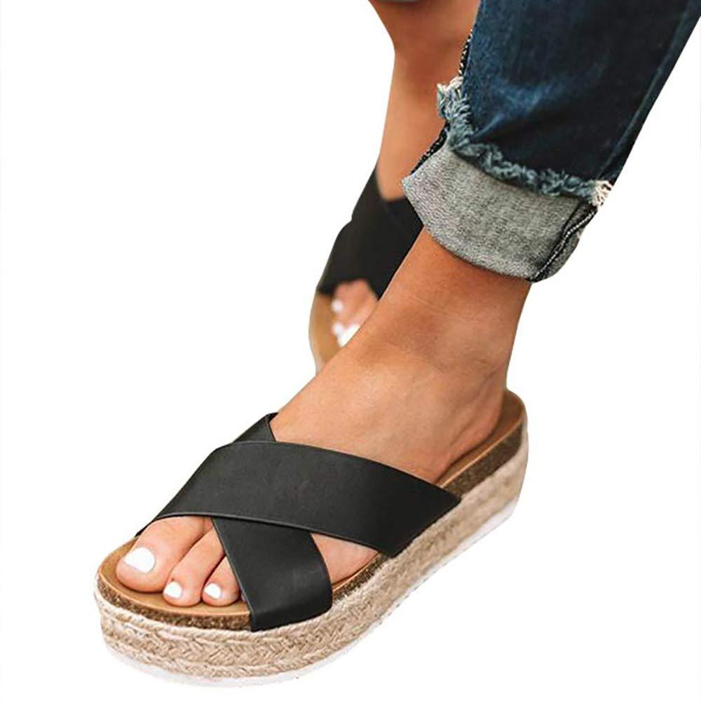 7902172b7a20 Amazon.com  softome Women s Platform Sandal Espadrilles Wedge Ankle Strap  Buckle Open Toe Summer Sandals  Shoes