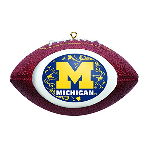 Ncaa Ornaments (NCAA Michigan Wolverines Replica Football Ornament)