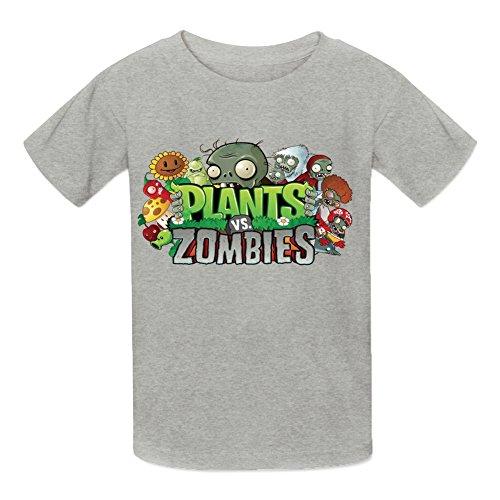 Kidsloveit Kids Boys' Plants vs Zombies Short Sleeve Crew Neck T-Shirt M Grey