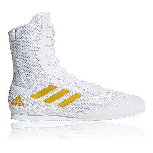 - adidas Box Hog Plus Mens Boxing Trainer Shoe Boot White/Gold - US 11