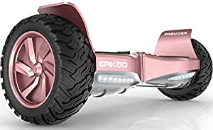 EPIKGO Premier Series Electrical Self Balance Board/Balancing Scooter With All-Weather Tire Hover Through Tough Road Condition [Rose Gold, Premier Series, Model: EL-ES03R]