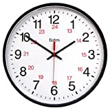 Bates 12-Inch Commercial 12/24 Hour Electric Clock, Black (7280347046)