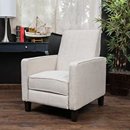 Christian Recliner by Home Loft Concepts in natural fabric