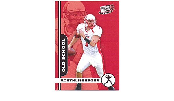 82cdf2760e4 Ben Roethlisberger 2004 Press Pass SE Old School #OS 7 - Pittsburgh Steelers,  Miami Redhawks, Rookie at Amazon's Sports Collectibles Store