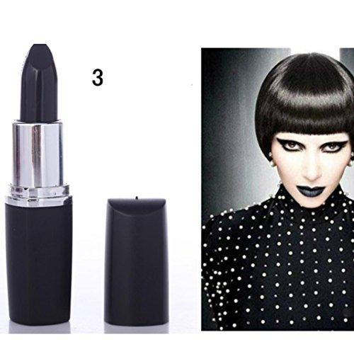 - SMYTShop Vampire Style 8 Colors Waterproof Long Lasting Lipstick (Black)