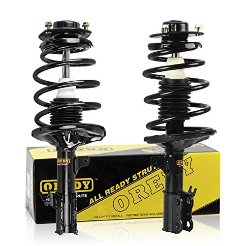 OREDY Front Pair Complete Quick Struts Shock Coil Spring Assembly Kit 181679 D171679 K171678 Compatible with 1997 1998 1999 2000 2001 Toyota Camry 4CYL 1999 2000 2001 2002 2003 Toyota Solara 4CYL