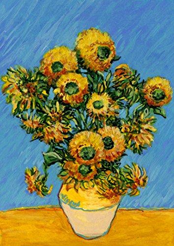Toland Home Garden Van Gogh's Sunflowers-Decorative Flower Painting Spring Summer House (Spring Large Flag)