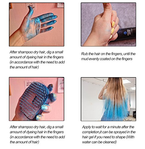 BlueZOO 120g Disposable Temporary Hair Color Pomade Unisex DIY Natural Hairstyle Wax Mud Dye Cream,Easy to Washable by Bluezoo (Image #9)