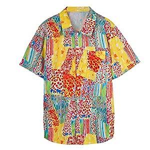 AG&T Shirt Camisa Hawaiana Hombre Manga Corta Delante de Bolsillo ...