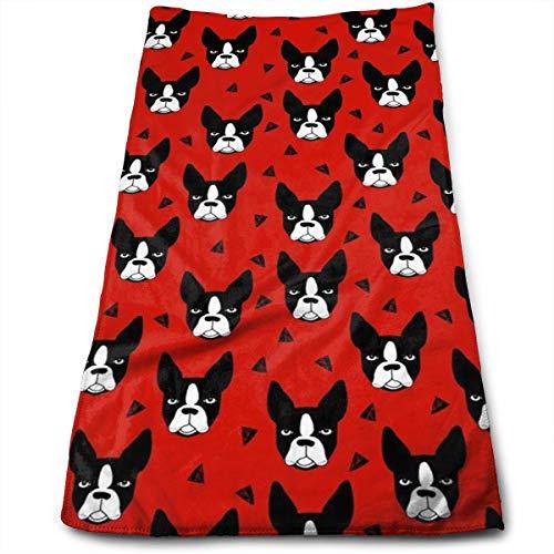 Gysdf7fst4 Boston Terrier Dog Kitchen Dish Towels with Vintage Design for Kitchen Decor Super Absorbent 100% Natural Cotton Kitchen Towels,12
