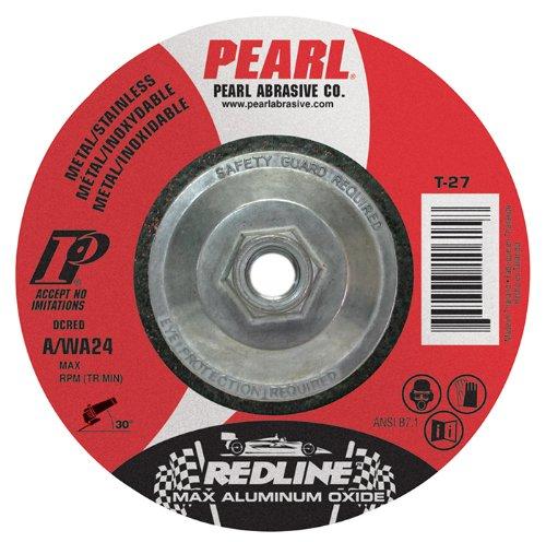 Pearl REDLINE 4-1/2'' x 1/8'' x 5/8''-11 Depressed Center Grinding Wheel (Pack of 10)