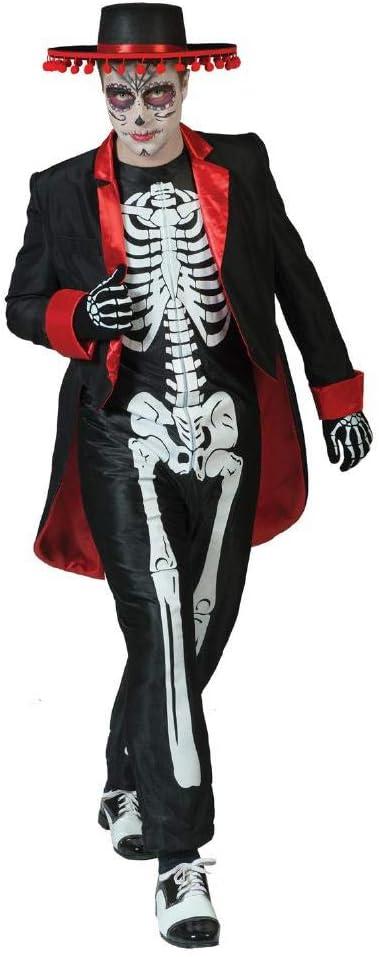 Disfraz de esqueleto mexicano hombre Día de los Muertos L
