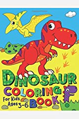 Dinosaur Coloring Book: For kids ages 3-6 (Silly Bear Coloring Books) Paperback
