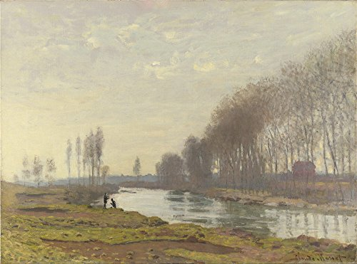 The Perfect Effect Canvas Of Oil Painting 'Claude Oscar Monet The Petit Bras Of The Seine At Argenteuil ' ,size: 8 X 11 Inch / 20 X 27 Cm ,this High Definition Art Decorative Canvas Prints Is Fit For Laundry Room Decor And Home Decoration And Gifts