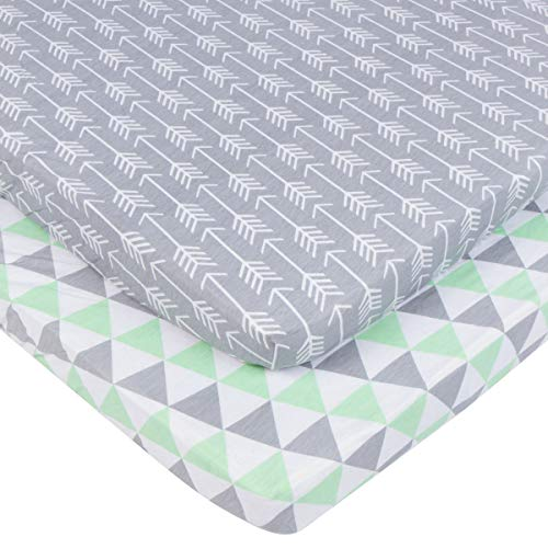 Pack n Play Sheets Set for Playard and Mini Crib Mattresses by BaeBae Goods (Image #2)