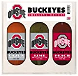 8 Pack OHIO STATE Buckeyes Grilling Gift Set 3-12 oz