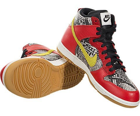 Scarpa Da Basket Nike Womens Dunk Hi Lx Max Orange / Electrolime-ivory-black