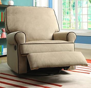 Miraculous Amazon Com Best Home Chloe Sand Fabric Nursery Swivel Ncnpc Chair Design For Home Ncnpcorg