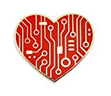 Pinsanity Digital Heart Enamel Lapel Pin
