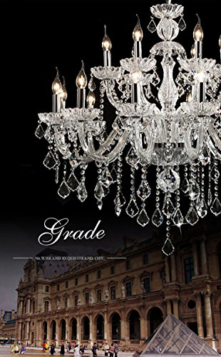 Generic Luxury Pendant Lamp Crystals Chandelier 18 Lights Arms Lamp Color Clear by non-brand (Image #4)