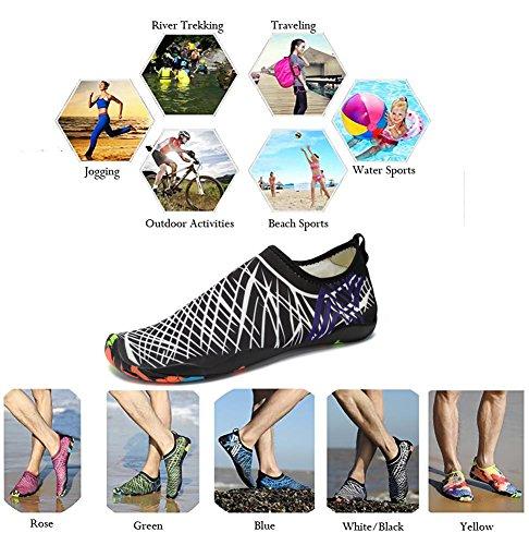 amp;white Sports Pool Women Surf Barefoot Black Men Dry Shoes Shoes Swim on Aqua Water Quick PENGCHENG Yoga Socks Skin Slip For Beach Uqc15tww