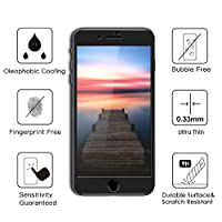 8Plus 7Plus Matte Surface 3D Full Coverage Film, TIQUS Tempered Glass Screen Protector for iPhone 8 Plus/ iPhone 7 Plus [2Pack] [Black] by Shijihuaxia