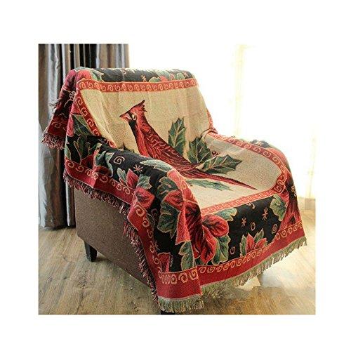 Northern European Rural Design Blanket - Retro Cotton Woven Couch Tassels Throw Blanket 51 x 63 - Striped Northern Blanket