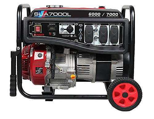 A-iPower SUA7000L 7000-Watt Gas Powered Portable Generator, RV Ready
