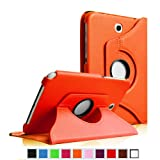 Fintie (Orange) 360 Degrees Rotating Case Cover (With Dual Auto Sleep/Wake Feature) for Samsung Galaxy Note 8.0 inch Tablet GT-N5100 / N5110 -Multiple Color Options