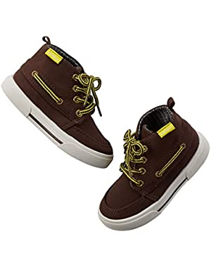 Carter's Boy's Lace-Up Boots; Brown