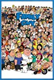 Hotstuff Family Guy Poster Print All Characters Peter Griffin Lois Stewie TV Comedy 24'x36'