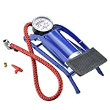 Te echo de menos Foot Operated Air Pump Ball Bike Bicycle Tire Inflator Air Mattress w/ Gauge