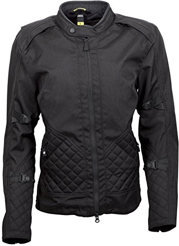 Adventure Textile Jacket (ScorpionExo Dominion Women's Textile Adventure Touring Motorcycle Jacket (Black,)