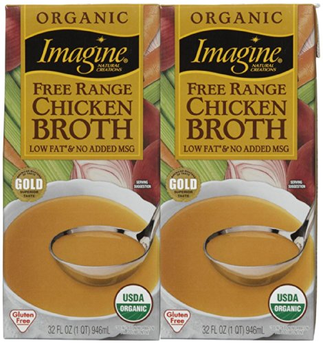 Chicken Organic Stock (Imagine Organic Free Range Chicken Broth, 32 oz)