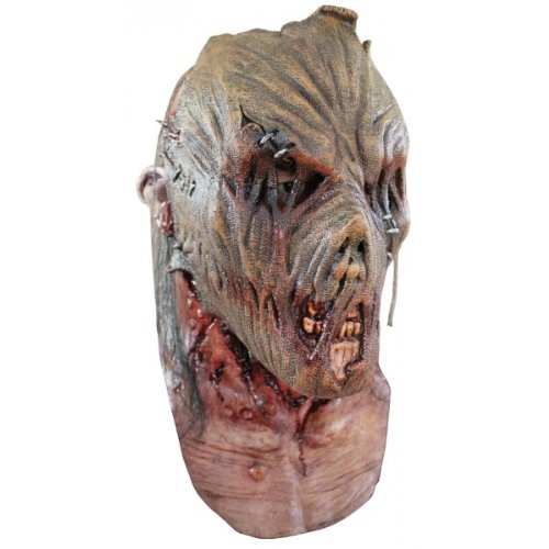Zombie Scarecrow Mask (Zombie Scarecrow Horror Wizard of Oz Costume Mask)