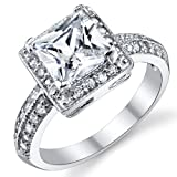 Best Ring Sterlings - Metal Masters Co.® 2 Carat Princess Cut CZ Review