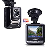 "Ausdom AD282 Dash Cam, 2.4"" LCD 2K Wide Angle Dashboard Camera Car Dvr with 1296 P Ambarella A7, G-Sensor, WDR, Loop Recording, Night Vision, 16 GB Card included"