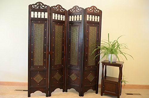 Vintage Charleston 6 ft. tall Wood Room Divider Screen by Styled Shopping