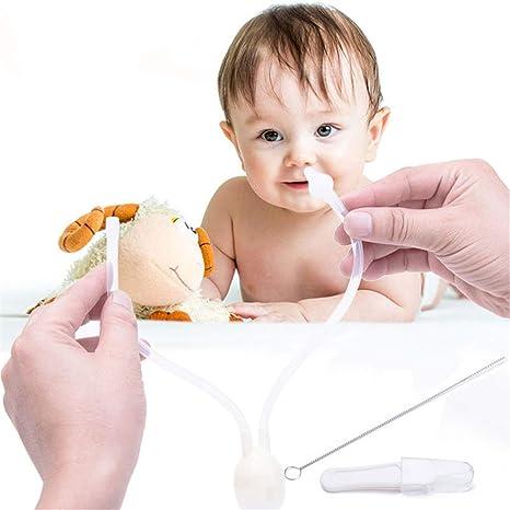 Aspirador nasal para bebé, succionador de nudo de bebé para recién ...